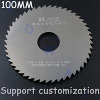 2pcs 100mm Diameter circular saw blade Solid Tungsten Carbide Steel cutting sheet Milling Cutter 1.9 3.0
