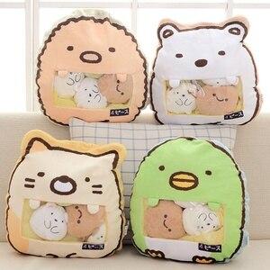 Image 2 - סוגים שונים שקית של Sumikko Gurashi & אוגר & חזיר וארנב ברווז וחתולים & לווייתן בפלאש כרית רך קריקטורה בעלי החיים בובת ילדים מתנות