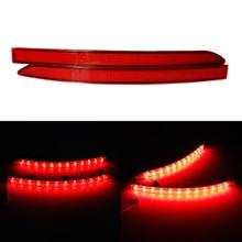 цена на Red Lens Auto LED Rear Bumper Reflectors Light For VW Volkswagen Tiguan 2007-2016 Tail Brake Stop Night Running Lights Fog Lamp