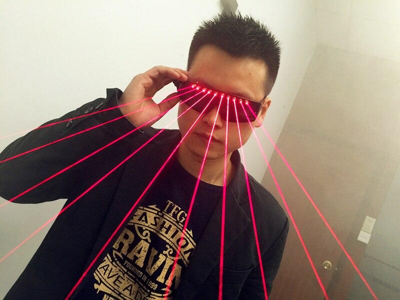 Lunettes Laser DJ pour les artistes de discothèque fête danse masque brillant lunettes à LED pour hommes et femmes
