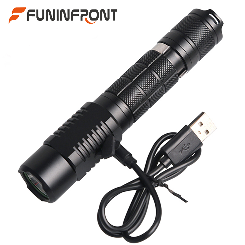 10W High Powerful Ultra Bright CREE XML T6 L2 Rechargeable LED Flashlight 5 Modes 1200 LMs MINI Handheld LED Torch Waterproof eletorot high power led flashlight 3800lm cree xml l2 waterproof 18650 camping bicycle flash light torch 5 modes ultra bright