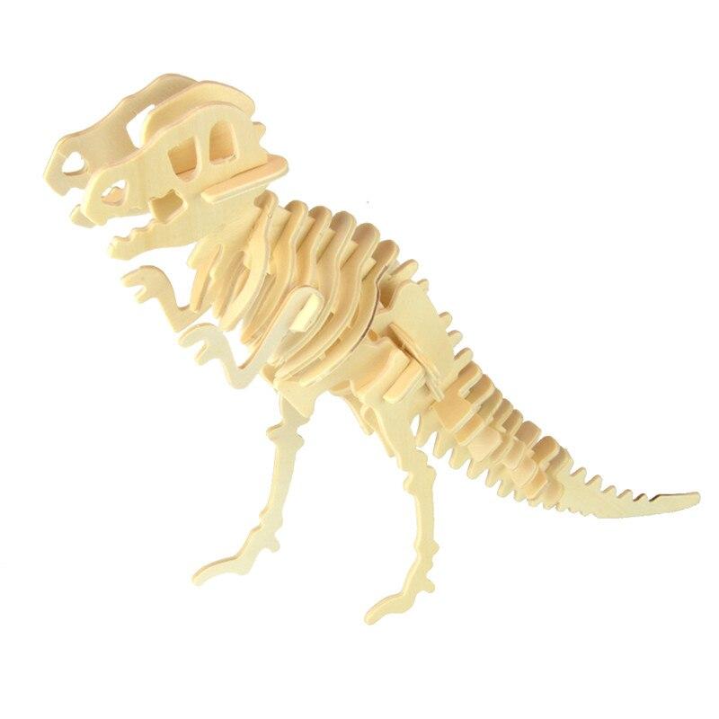 Puzzle De Gran Juguete Kits Acción Madera 3d Figuras Dinosaurio QBsdtohCxr
