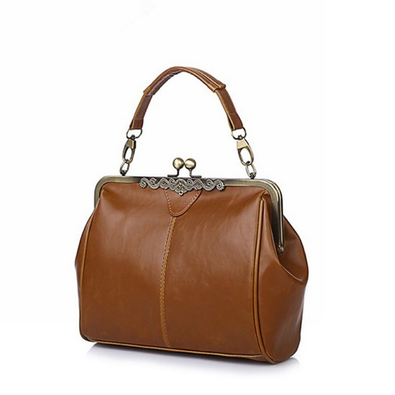 Retro Clip Women's Handbag Vintage Women Messenger Bag Fashion Women CrossBody B