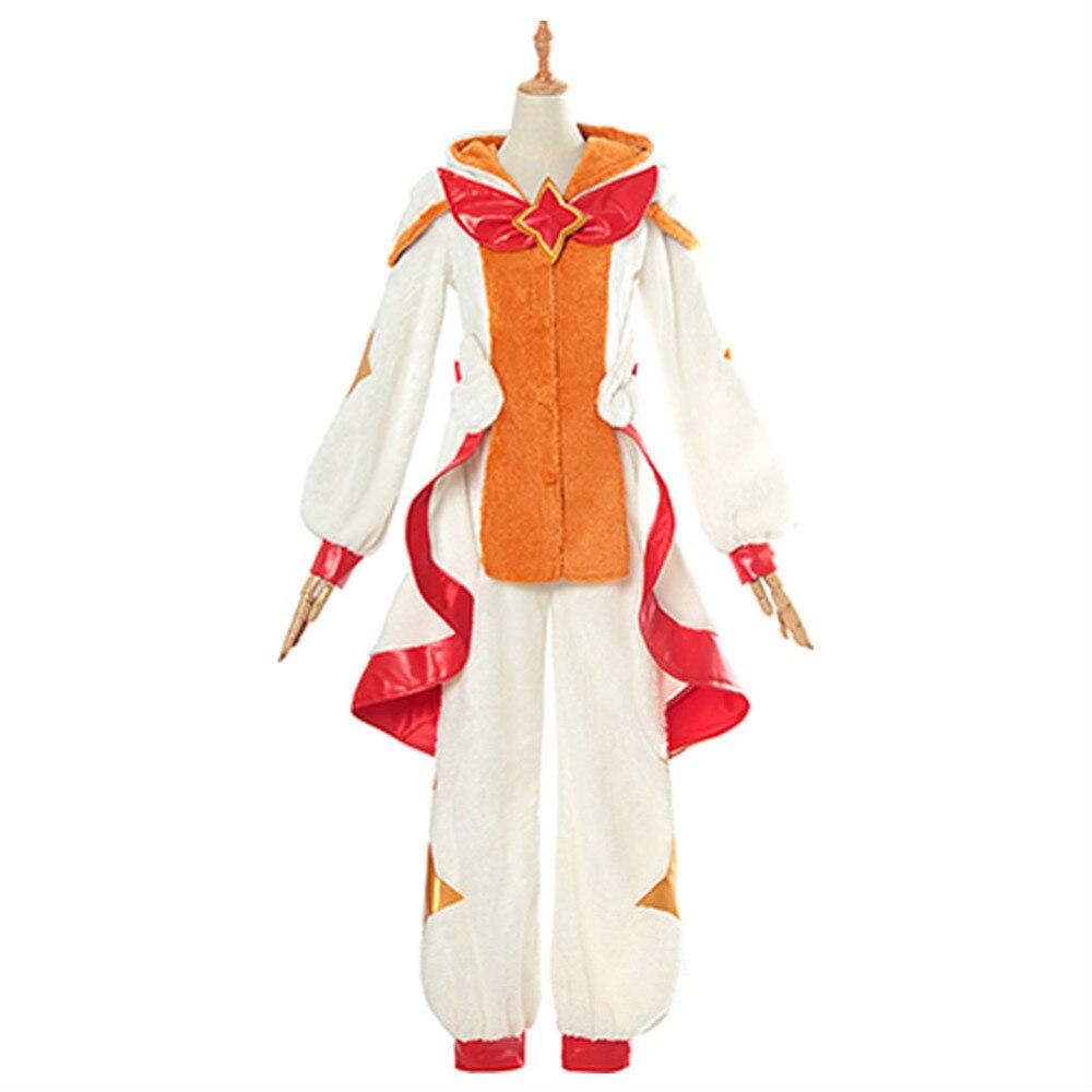 LOL Cosplay Miss Fortune Pajama Guardian Costume the Bounty Hunter Jumpsuit Halloween Party Costume Cartoon Sleepwear Fleece
