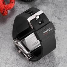OHSEN AD0518 резиновый ремешок для часов белый черный