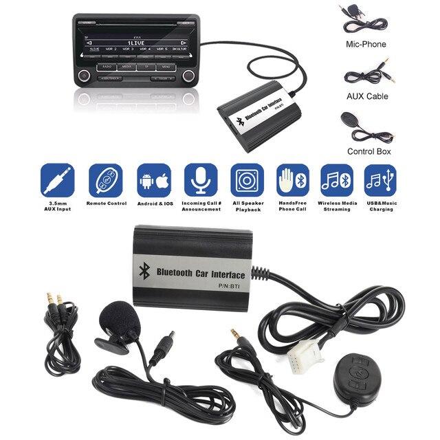 MAYITR 1Set Car Stereo Bluetooth Kits Hands free Adapter USB AUX ...