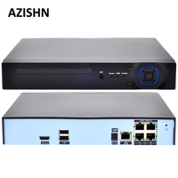AZISHN 48V POE 4CH 5MP 4MP H 265 H 264 POE NVR DVR CCTV System ONVIF