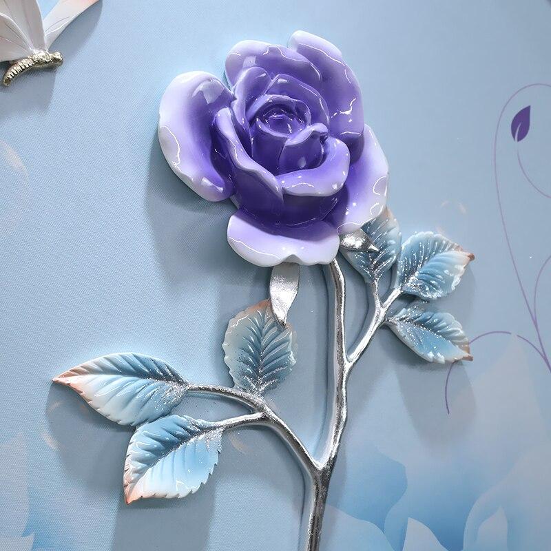 3D Reliëf Hars Bloemen Huis Muur Opknoping Vlinder Ambachten Muur Achtergrond Muurschildering Ornament Bruiloft Livingroom Wall Decor R2073 - 4