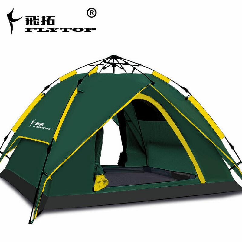 FLYTOP Multifunction Outdoor Automatic Tent 3-4 Person Fishing Tent gazebo Travel Waterproof Tourist Tent Camping Equipment