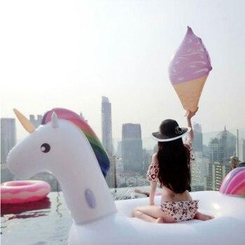 Tubos De Agua Inflables | 270*140*120 Cm Tamaño Grande Inflable Unicornio Natación Flotador Rider Unicornio Natación Flotador Tubo Flotador Anillo De Natación Juguetes Para Agua B40013