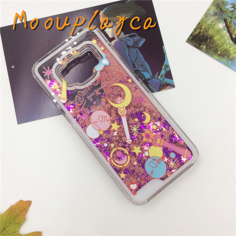 separation shoes fb2bf 4b983 US $3.59 |Liquid quicksand cover for Samsung Galaxy S8 S8plus phone cases  Cute cartoon Sailor Moon magic stick pattern Hard Plastic cases-in ...