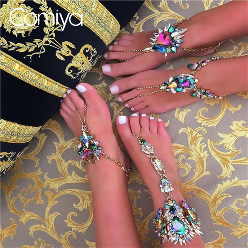 comiya europe ethnic charming foot accessories anklet for women online shopping indian. Black Bedroom Furniture Sets. Home Design Ideas
