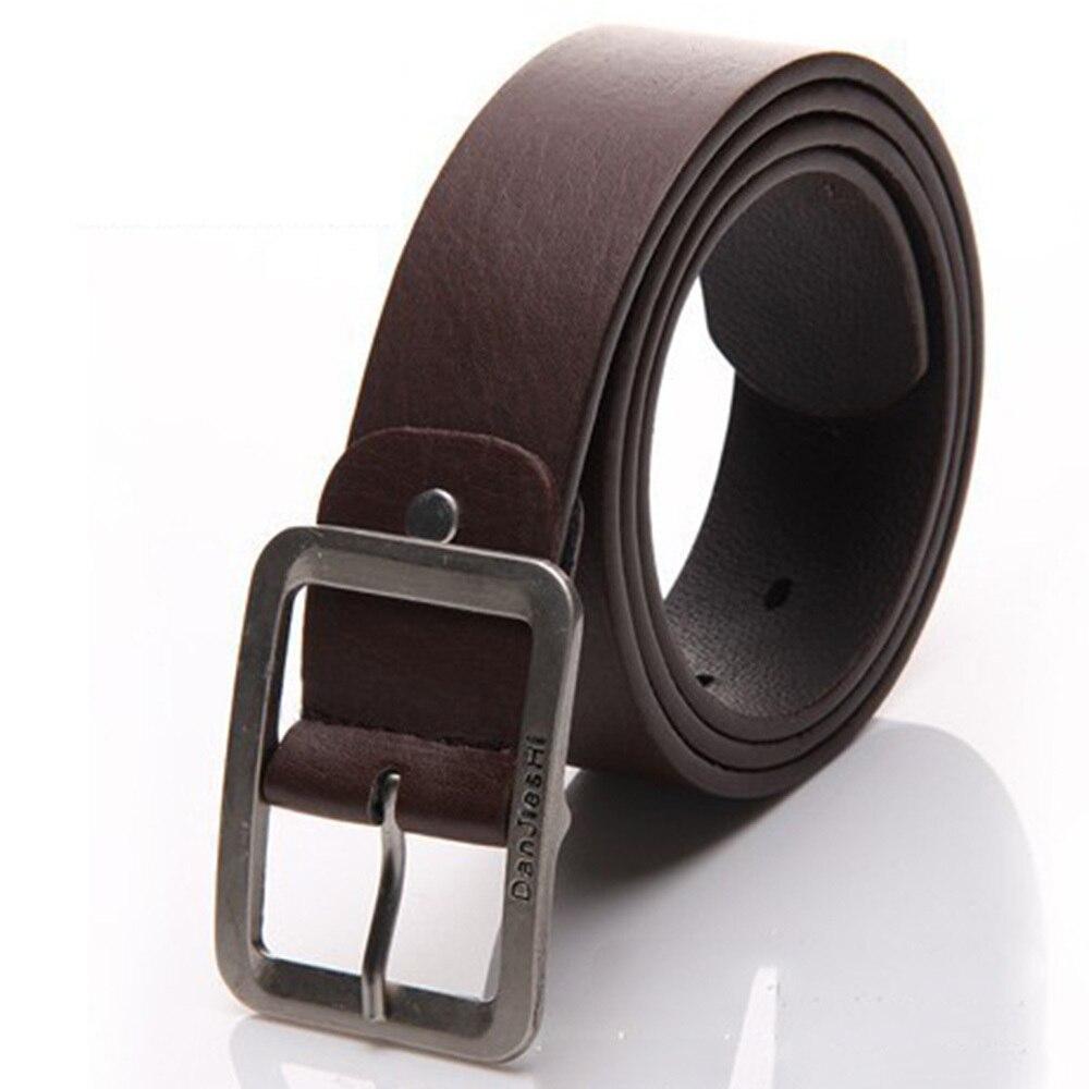 Hot Sale Men Belt Low-key Buckle For Casual Dress Faux Leather Waist ... 827fc6a6f496
