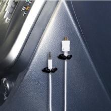 8Pcs רכב חוט כבל מחזיק רב תכליתי עניבת קליפ Fixer ארגונית רכב מטען קו אבזם באיכות גבוהה אוזניות כבל קליפ