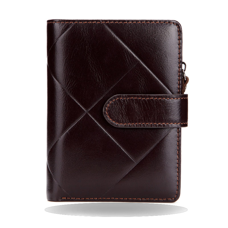 Vintage Genuine Cow Leather Men Wallet Coin Pocket Brand Trifold Multifunction Men Purse High Quality Male Card ID Holder ms brand men wallets dollar price purse genuine leather wallet card holder designer vintage wallet high quality tw1602 3