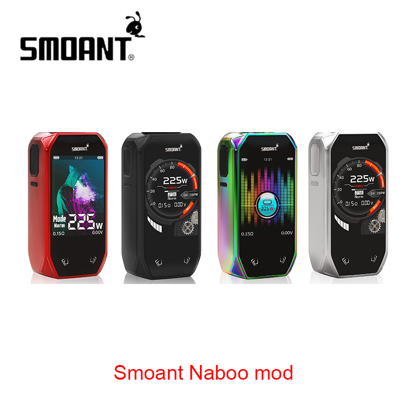 Original Smoant Naboo 225 W TC boîte MOD classique UI Options et Mode musique No 18650 batterie boîte Mod Vs Smoant Cylon/Charon Mini
