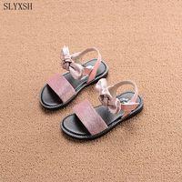 SLYXSH Nieuwe Stijl Van Mode Toevallige Jongens Meisjes Sandaal Voor Baby Schoenen Antislip Kinderen Sandalen Wit Roze maat 21-36