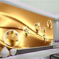 Beibehang пользовательские 3d обои, фрески, Современные Золотой линии шары обои диван фон для ТВ в гостиную и спальню Декор