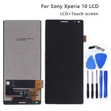 """6.0 """"الأصلي لسوني xperia 10 i3123 i3113 i4113 i4193 شاشة الكريستال السائل محول الأرقام بشاشة تعمل بلمس لسوني xperia 10 LCD إصلاح أجزاء"""
