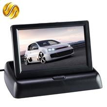 """רכב צג 4.3 """"תצוגה עבור מצלמה אחורית מתקפל צבע TFT LCD 4.3 אינץ HD מסך לרכב הפוך"""