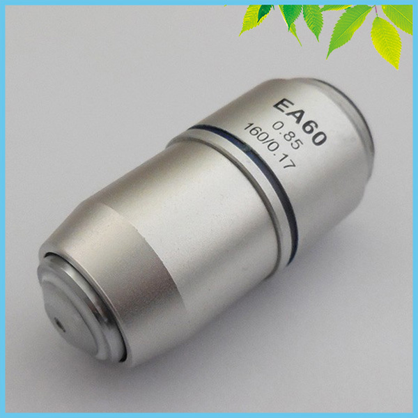 60X Achromatic Objective Lens Standard Biological Microscope Objective Lens for Bio microscope Used in Education Lab Hospital