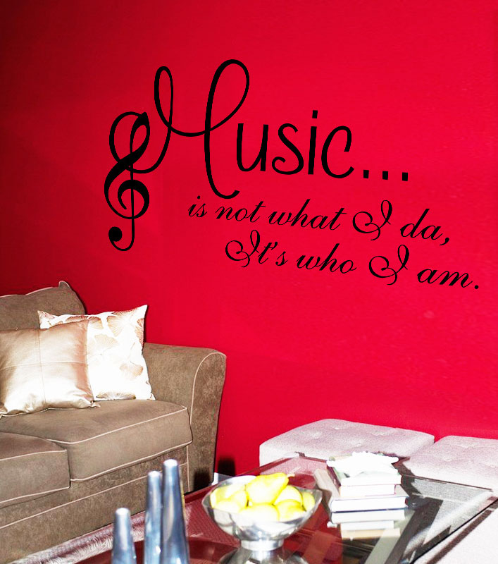 Personalized Fashion Wordart Sentence Music Dance Studio Wall Decals Living Room Bedroom Removable Stickers Murals In From Home Garden