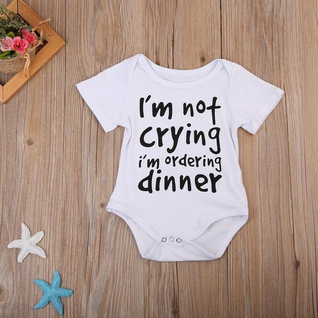 eb9b75c8ca0e Unisex Toddler Infant Newborn Baby Boy Girl White Short Sleeve ...