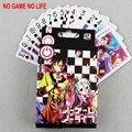 54 Cards / set Anime NO juego NO LIFE Cosplay de póker de los niños tarjetas de regalos envío gratis