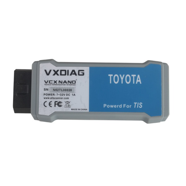 VXDIAG VCX NANO for TOYOTA TIS Techstream V12.00.127 Compatible with SAE J2534 VXDIAG VCX NANO for Toyota Diagnostic Tool