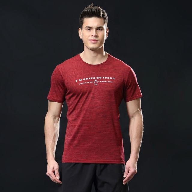 bad763275c4e4 Hombres manga corta ajuste seco compresión hombres de ropa deportiva de  Deporte Running Fitness hombres Fitness