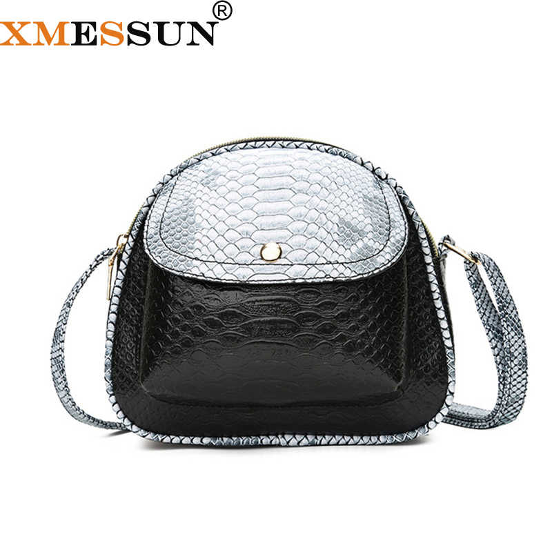 XMESSUN Snake Shoulder Bag For Women Messenger Bags Ladies Leather Handbag  Purse Female Crossbody Bag Crocodile 2571cb48bef21