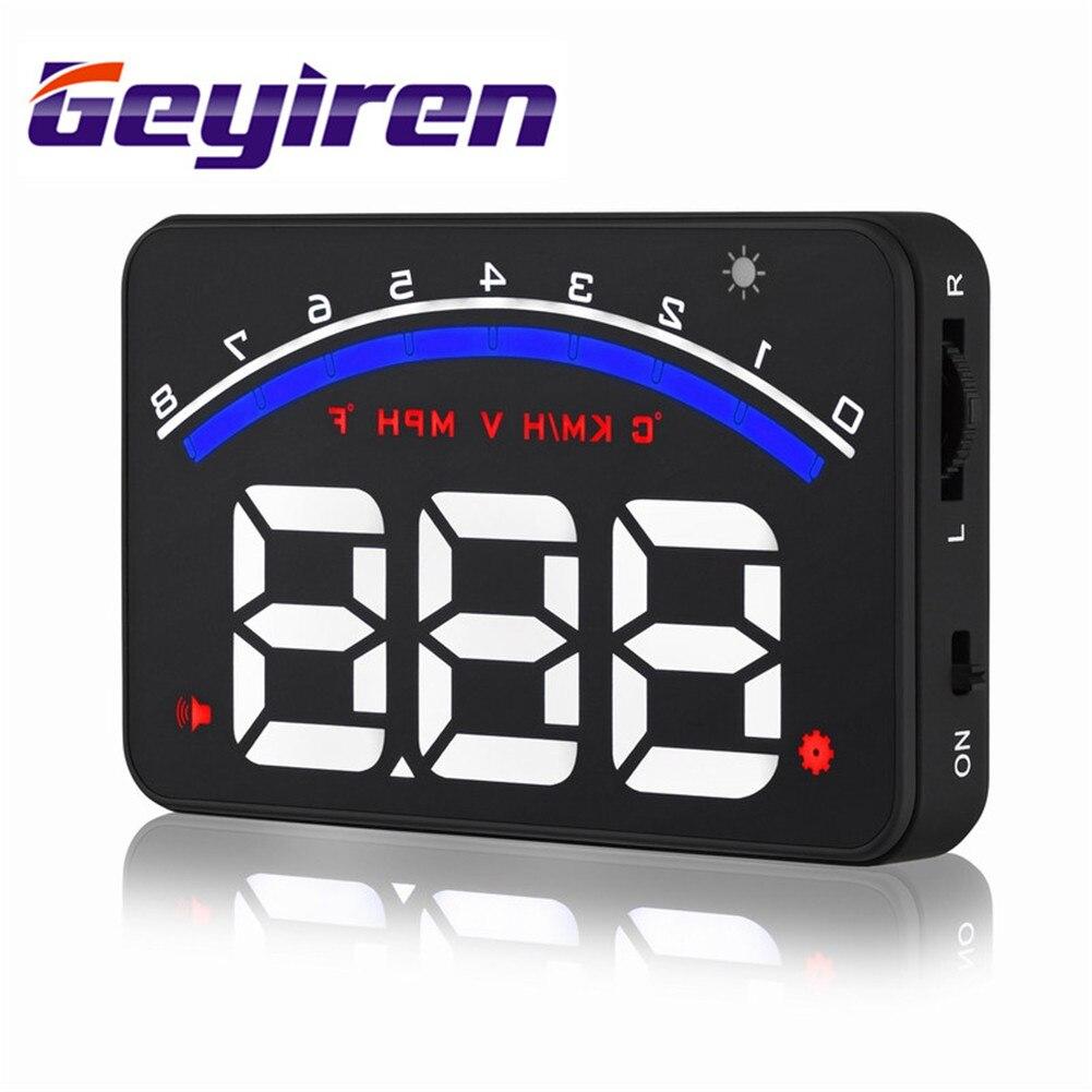 GEYIREN M6 3.5 Inch HUD Auto Head Up Display Auto OBDII OBD KM / h - Auto-elektronica