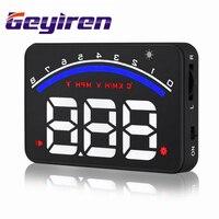 GEYIREN M6 3.5 Inch HUD Car Head Up Display Car OBDII OBD KM/h MPH Speeding Warning Windscreen Projector OBD2 EUOBD hud system