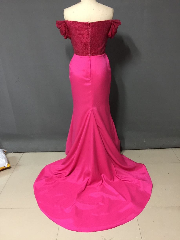Encantador Raso Vestidos De Dama De Color Púrpura Componente ...
