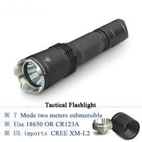 Tactical Flashlights High Quality Lanterna LED Flashlght Waterproof IPX 8 Led Light Torch CREE XM L2