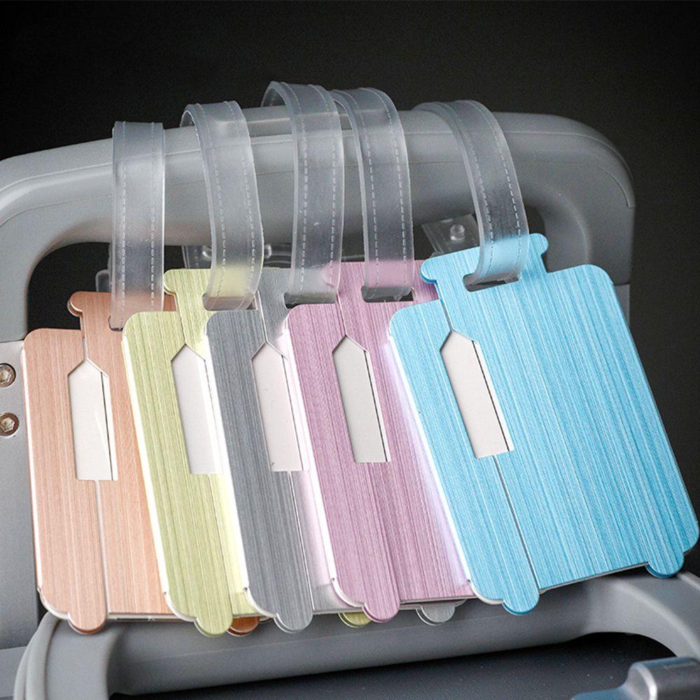 1 Pc Mode Stilvolle Reise Gepäck Tasche Tag Name Adresse Id Halter Aluminium Koffer Gepäck Tragbare Label