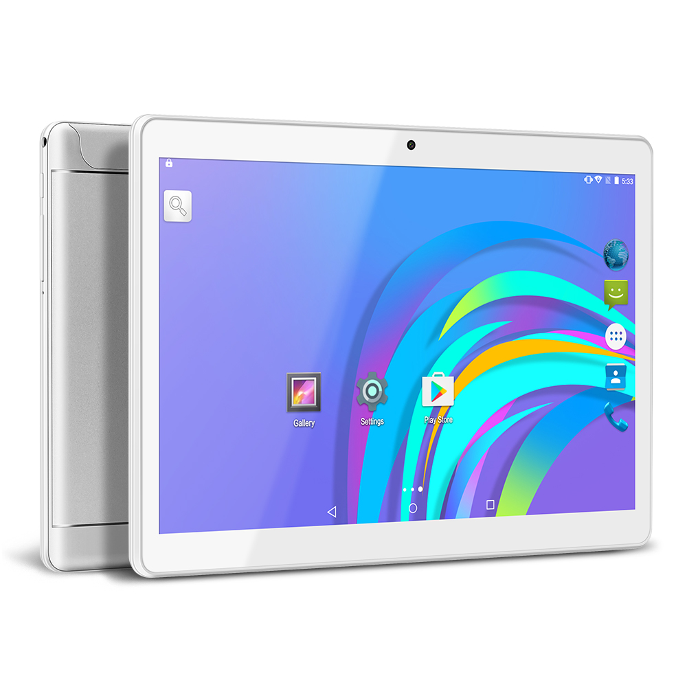 Yuntab 9.6inch Tablet PC K98 Quad-Core 3g Cellphone Android 5.1 With Dual Camera Built In 2 Normal Sim Card Slots (silver)