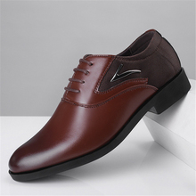 new Luxury  PU Leather Fashion Men Business Dress Loafers Pointy Black Shoes Oxford Breathable Formal Wedding Brand Classic Sho