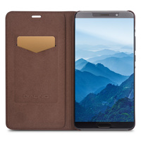 QIALINO Business Style Genuine Leather Case For Huawei Mate 10 Ultra Slim Flip Cover For 5