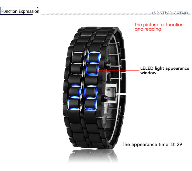 Aidis youth sports watches waterproof electronic second generation binary LED digital men's watch alloy wrist strap watch 16