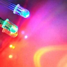 Лучшая цена 10 шт./партия 5 мм 4PIN Общий Анод RGB светодиодный светодиод круглые прозрачные лампы