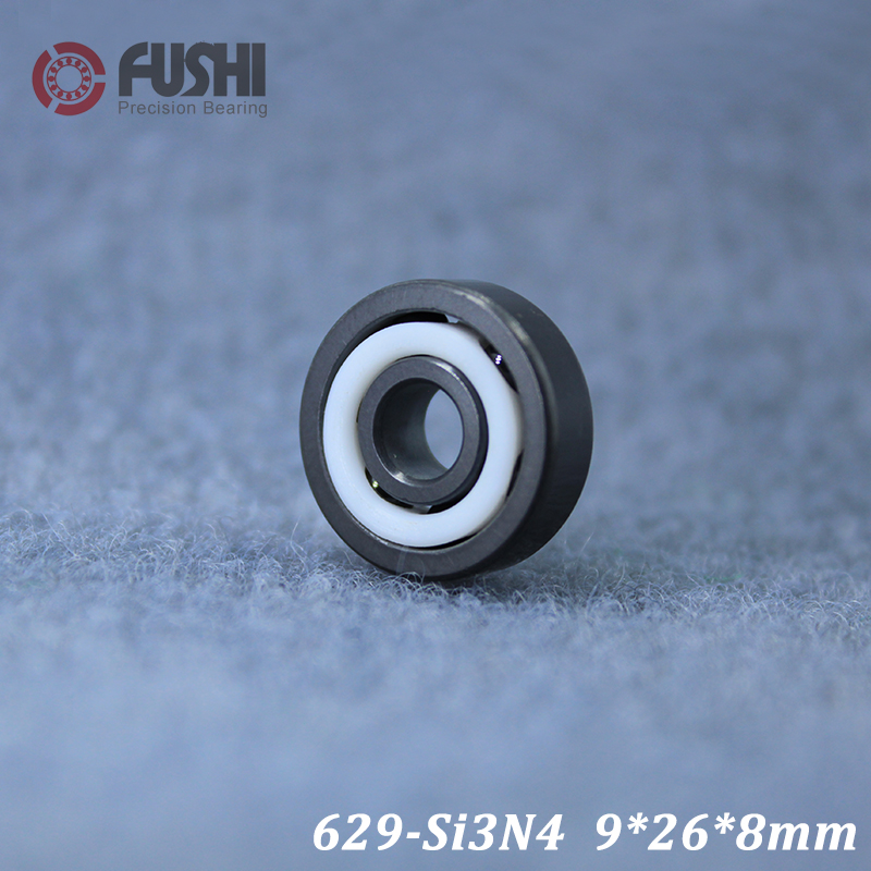 629 Full Ceramic Bearing ( 1 PC ) 9*26*8 mm Si3N4 Material 629CE All Silicon Nitride Ceramic Ball Bearings629 Full Ceramic Bearing ( 1 PC ) 9*26*8 mm Si3N4 Material 629CE All Silicon Nitride Ceramic Ball Bearings