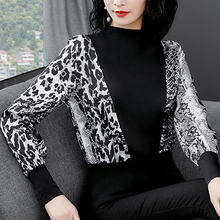 Woman Shirts Women Blouses Snake Print for Long Sleeve Office Lady Leopard Plus Size Tops Ladies Top