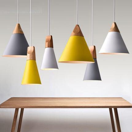 Style nordique suspension lampe Simple moderne éclairage métal créatif suspension lumière café salle à manger lumières contient ampoule LED