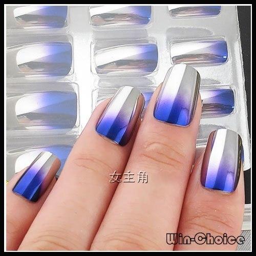 Fashionable Pre Design Nail Tips On Sale! Metallic Looking