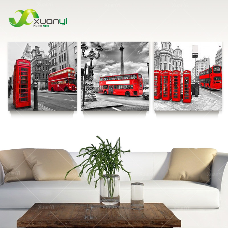 buy 3 pcs hot sell modern wall art painting landscape home decorative london. Black Bedroom Furniture Sets. Home Design Ideas