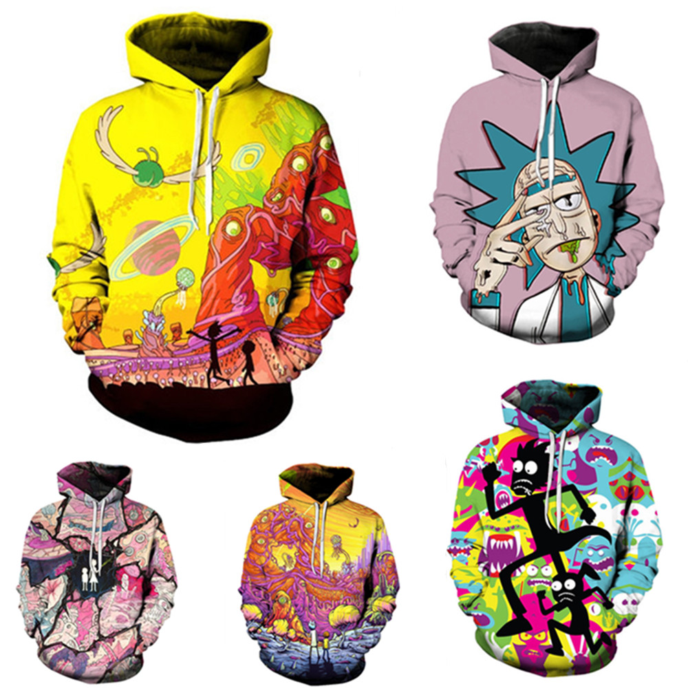 Rick and Morty Costumes Rick Morty Sweater Hoodie Naruto Uchiha Itachi Anime Adult men Ms 3D Printed Hooded Sweatshirt Jacket cocktail dress