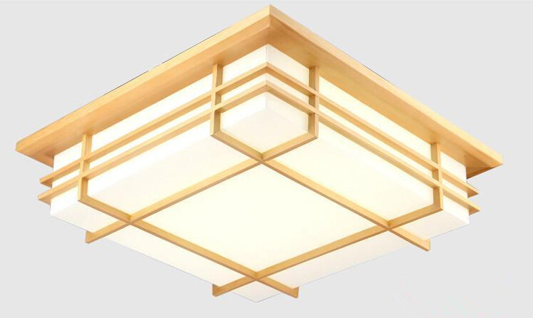 Japanese Indoor Lighting Ceiling Lights Washitsu Tatami Decor Modern Lamp Wooden For Restaurant Living Room Bedroom Hallway japanese tatami wood led ceiling lamp simple bedroom lamps ultra thin living room ceiling lights new restaurant indoor led lamp