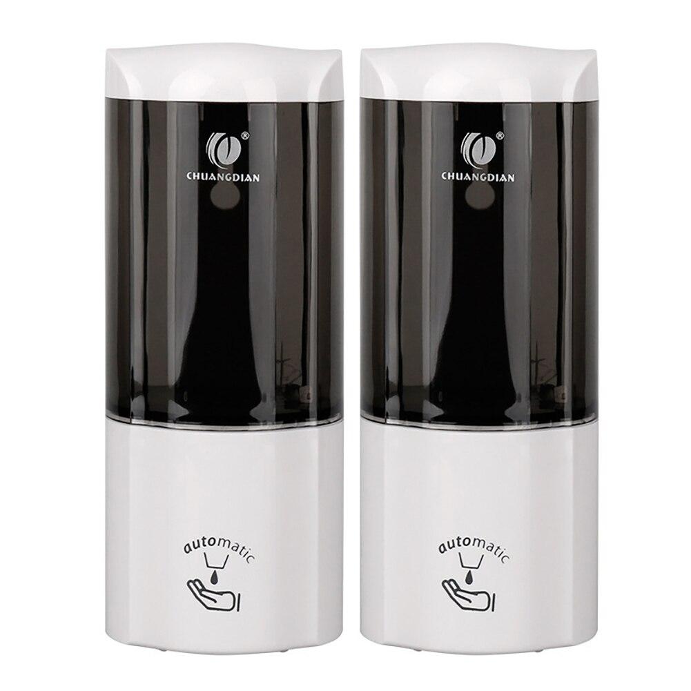 Nova chegada Luxuoso 2 pcs 500 ml inteligente Wall Mount Sensor INFRAVERMELHO Automático Cozinha Banheiro Distribuidor da Loção do Sabão gota grátis - 3