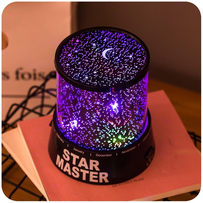 Modern Night Light Romantic Star Filled Bedroom Night Lamp Living Room Starlight Surprise Lamp Moon Projection Night Lights